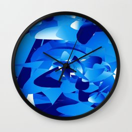 blue mania Wall Clock