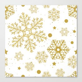Golden snowflakes Canvas Print