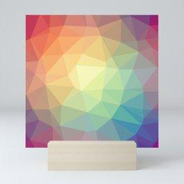 LOWPOLY RAINBOW Mini Art Print
