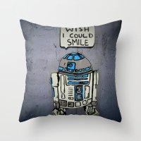 robots Throw Pillows featuring Robots by Studio La Clandestina