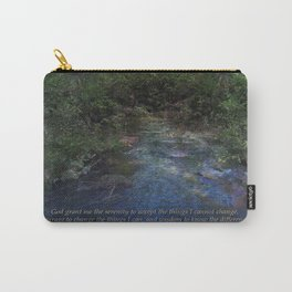 Serenity Prayer Blue Creek Carry-All Pouch