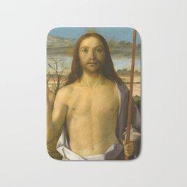 "Giovanni Bellini ""Christ Blessing"" Bath Mat"