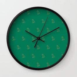 Classic Owl - Grass Wall Clock