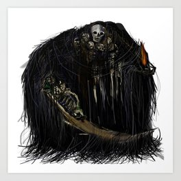 Gravelord Nito - Dark Souls Art Print
