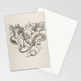 Unused Tailpiece Design, The Duchess of Malfi Henry Weston Keen Stationery Cards