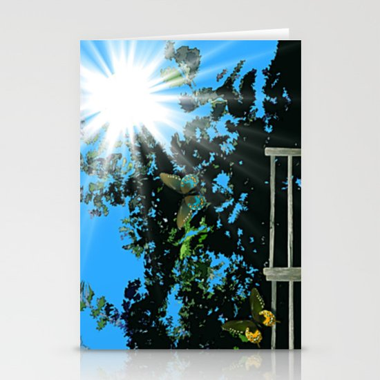 On the edge of the garden. Stationery Cards