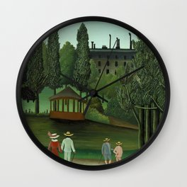 "Henri Rousseau ""View of Montsouris Park, the Kiosk"" Wall Clock"