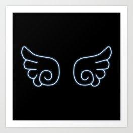 Chibi Angel Wings Art Print