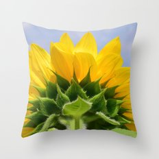 Bright Sunflower Throw Pillow