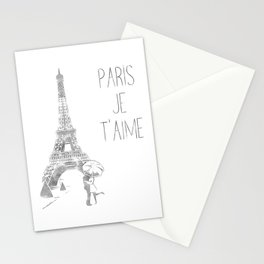 Paris Je T'aime (I Love You) T Shirt, Hand Drawn Sketch Stationery Cards