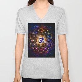 """""""The higher power of Om"""" - sacred geometry Unisex V-Neck"""