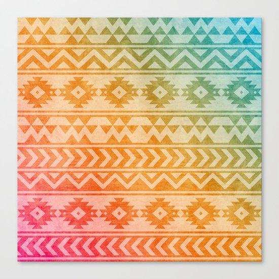 Aztec Pattern 02 Canvas Print