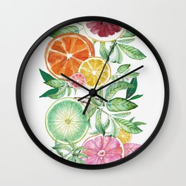 Citrus Fruit Wall Clock