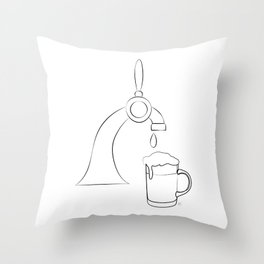 """"""" Kitchen Collection """" - Beer Pour Machine Pouring Glass Throw Pillow"""