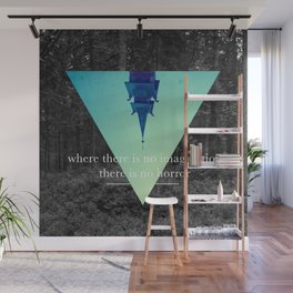 Where there is no imagination there is no horror Wall Mural