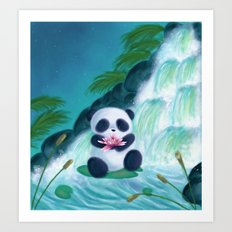 Panda Lilly Art Print