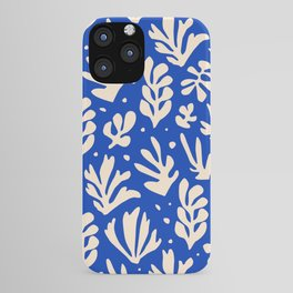 matisse pattern with leaves in blu iPhone Case