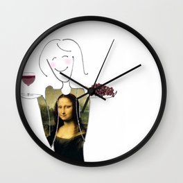 She Hearts Mona  Wall Clock