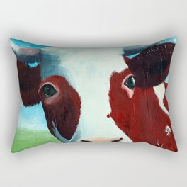 Animal - Daisy the Cow - by LiliFlore Rectangular Pillow