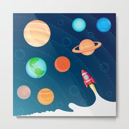 Space Foam Metal Print