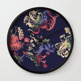 Japanese Brocade print Wall Clock