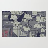 american psycho Area & Throw Rugs featuring Psycho by Ale Giorgini