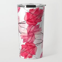 Floral Print Swirls Decorative Design Travel Mug