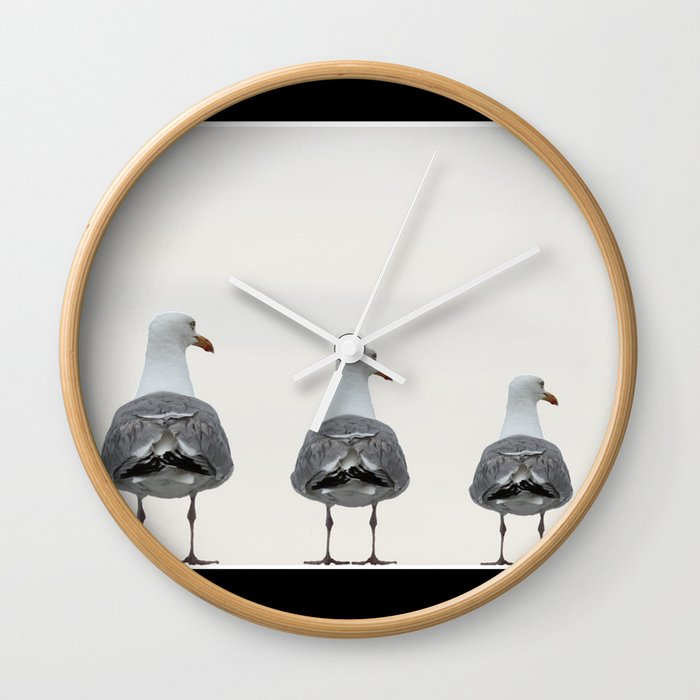 Seagulls Wall Clock By Isit209 Society6