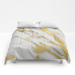 Gold White Marble Comforters