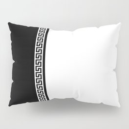Greek Key 2 - White and Black Pillow Sham