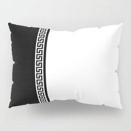 Greek Key 2 - White and Black Pillow Sham