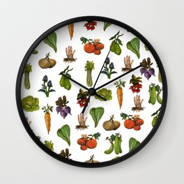 market pattern Wall Clock
