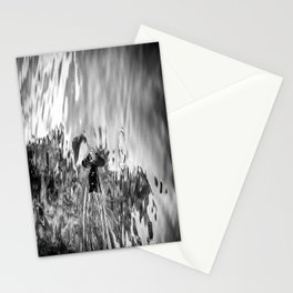 Swimming - Black & White Stationery Cards