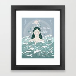 Waves of unconditional love washing over me Framed Art Print