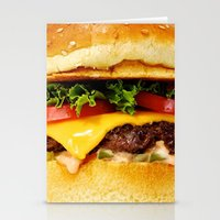 burger Stationery Cards featuring Burger by Jamie Danielle