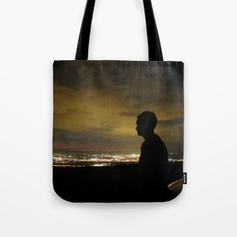 Blinding light that never sleeps Tote Bag