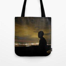 Blinding light that never sleeps Tote Bag