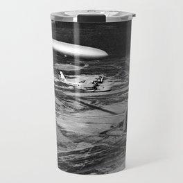 Zeppelin arrival over New Jersey Travel Mug