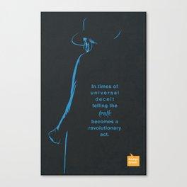 George Orwell Minimalist poster Canvas Print
