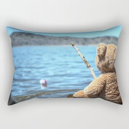 Come on Walter said the fishing teddy bear Rectangular Pillow