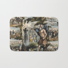 Raphael's Prophetic Almanack: a mob in France, Merlin and King Arthur, and the Boxer Rebellion (1840 Bath Mat