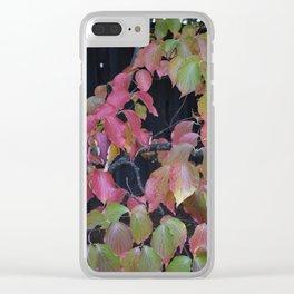 Pretty Fall Dogwood tree leaves Clear iPhone Case