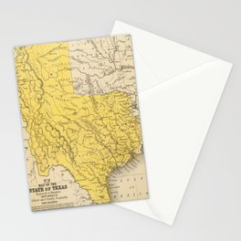 Vintage Map of Texas (1847) Stationery Cards