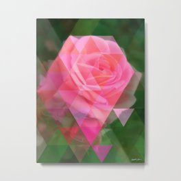 Pink Roses in Anzures 2 Art Triangles 1 Metal Print