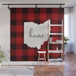 Ohio is Home - Buffalo Check Plaid Wall Mural