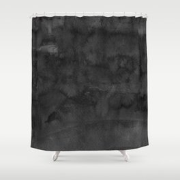 Black Ink Art No 4 Shower Curtain