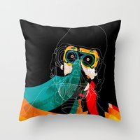 mask Throw Pillows featuring Mask by Alvaro Tapia Hidalgo