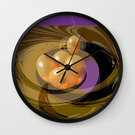 Putting All Your Eggs In One Basket Wall Clock