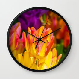 Tulips Enchanting 09 Wall Clock
