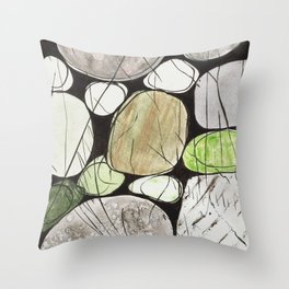 Classical Stones Pattern in High Format Throw Pillow